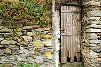 Door of a house, Cinque Terre National Park, Vernazza, La Spezia, Liguria, Italy