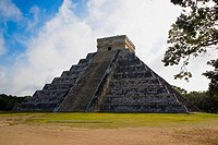 Pyramid on a landscape, Chichen Itza, Yucatan, Mexico
