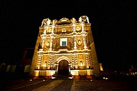 Facade of a cathedral, Santo Domingo, San Cristobal De Las Casas, Chiapas, Mexico