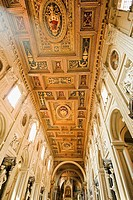 Interior of San Giovanni in Laterano Basilica  Rome, Lazio, ItalyRome, Lazio, Italy