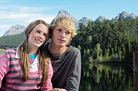 Teenage Couple Near Mountains