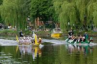 Dragon boats, Ljusfesten, Ängelholm, Skåne, Sweden