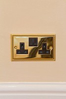 Double brass electrical socket