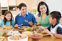 Family Enjoying meal,mealtime Together