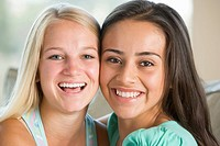 Two Teenage Girls Smiling
