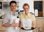 Portrait of wait staff in cafe