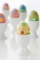Easter eggs in cups