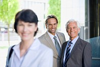 Germany, Baden Württemberg, Stuttgart, Business people, smiling, portrait