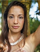 Close up of Native American woman