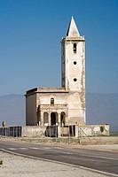 Church, Almadraba de Monteleva, Cabo de Gata. Almeria province, Andalucia, Spain