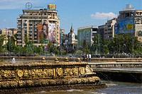 Piata Unirii square in Bucharest, Romania, Europe