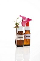 Bottles with Bach Flower Stock Remedy