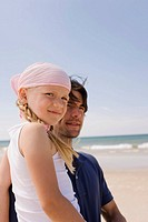 Germany, Baltic sea, Father and daughter 6, portrait, close_up