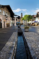 Germany, Bavaria, Mittenwald, Pedestrian area