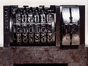 Meter, detail of typographical plate