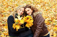 outdoor portrait of two young women