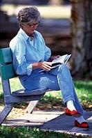 Reading woman,