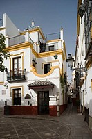Square of Doña Elvira in Santa Cruz district, Sevilla. Andalucia, Spain