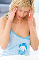 WOMAN WITH HEADACHE Model.