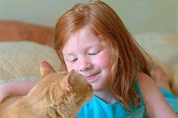 CHILD WITH ANIMAL Model.