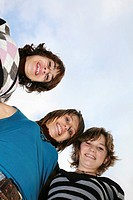 GROUP OF ADOLESCENTS Models.