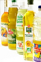 EDIBLE OIL Different oils : colza, olive, grape, sunflower seed and mixed oils.