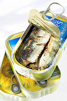 CANNED FOOD Canned sardines in oil.