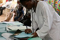 A HOSPITAL IN AFRICA Photo essay in a hospital in Congo consultation of the Chain of Hope. African doctor.