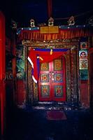 Door of Kalpa Gompa , Kalpa , Himachal Pradesh , India