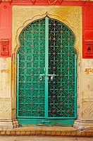 Door made of iron , Jaisalmer , Rajasthan , India