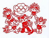cut paper,the mascots of 2008 Beijing Olympic Games