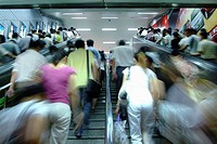 Crowd In Subway Train,Shanghai,China