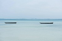 Tanzania, Zanzibar, dugout canoes