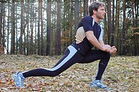 Man, Stretching, warming up, one Person, Athlete, outdoor, outdoors, Balance, tree, leg, stretched, stretch, exercise,
