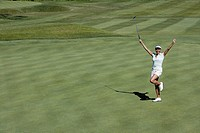 Woman on golf course