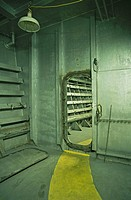 Entrance to ship engine room