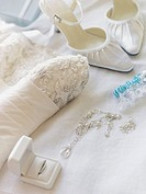 Bridal gown and accessories