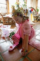 Girl dressed as princess
