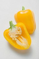 Yellow pepper, halved