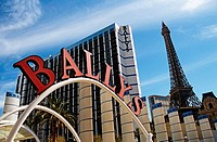 Ballys and Paris Hotels and Casinos, Las Vegas, Nevada, USA