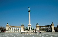 Millennium Monument, Heroes´ Square, Budapest, Hungary