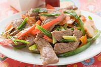 Stir_fried beef with peppers Asia