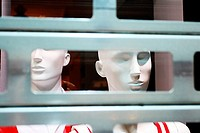 Manniquins in a closed shop