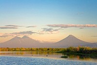 Agua and Pacaya Volcanoes, Monterrico_Hawaii Nature Reserve Monterrico_Hawaii Biotopo, Pacific Coast, Guatemala