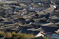 China, Yunnan Province, Lijiang, Lijiang Old Town Rooftops