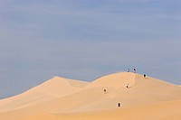 People on Sand Dunes, Munie Beach, Vietnam