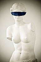 Blindfolded Statue