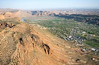 Aerial view of Moab, Utah