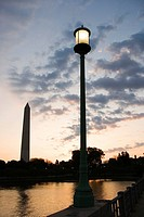 Washington Monument and lamppost, Washington, DC