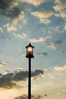 Lamppost and sky